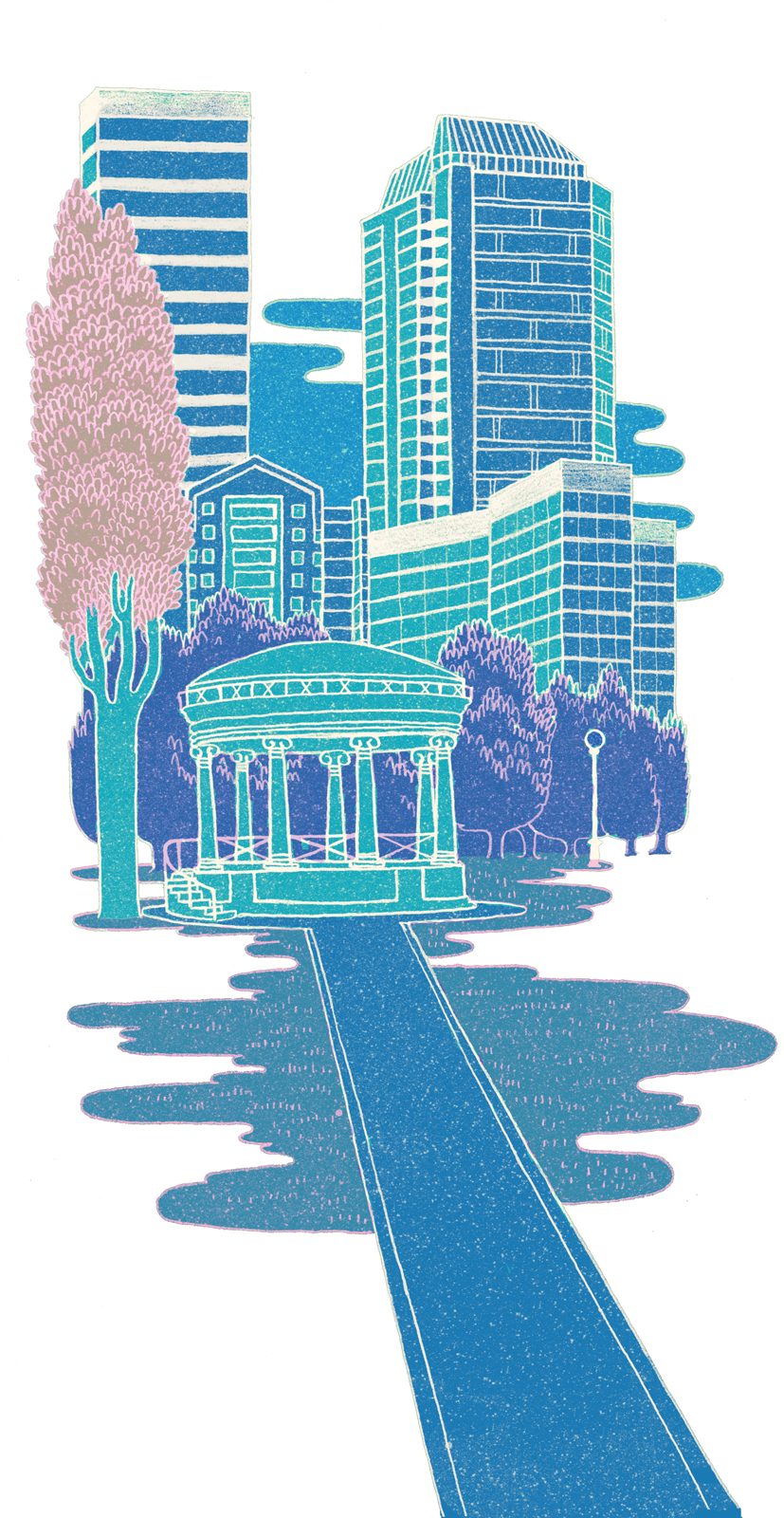 101 boston commons illustration