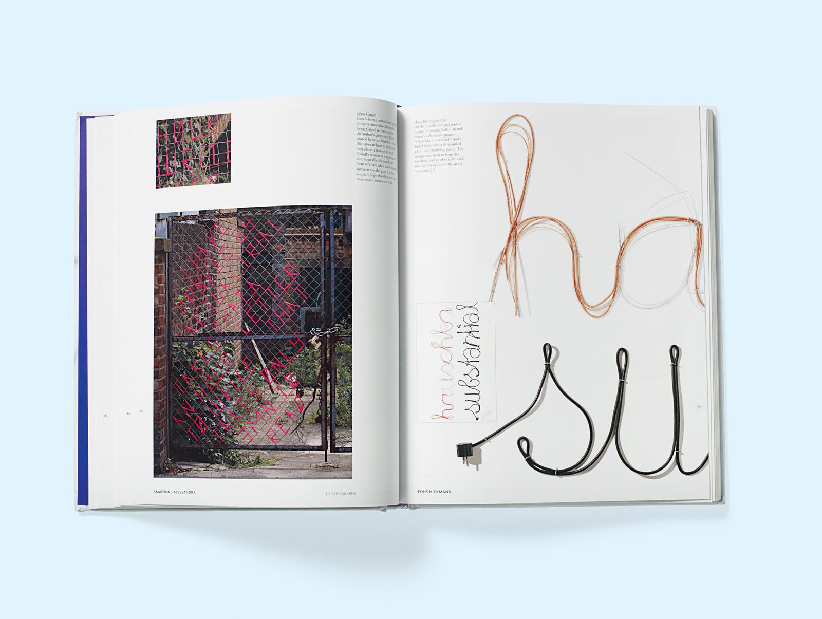 3d typography image spread