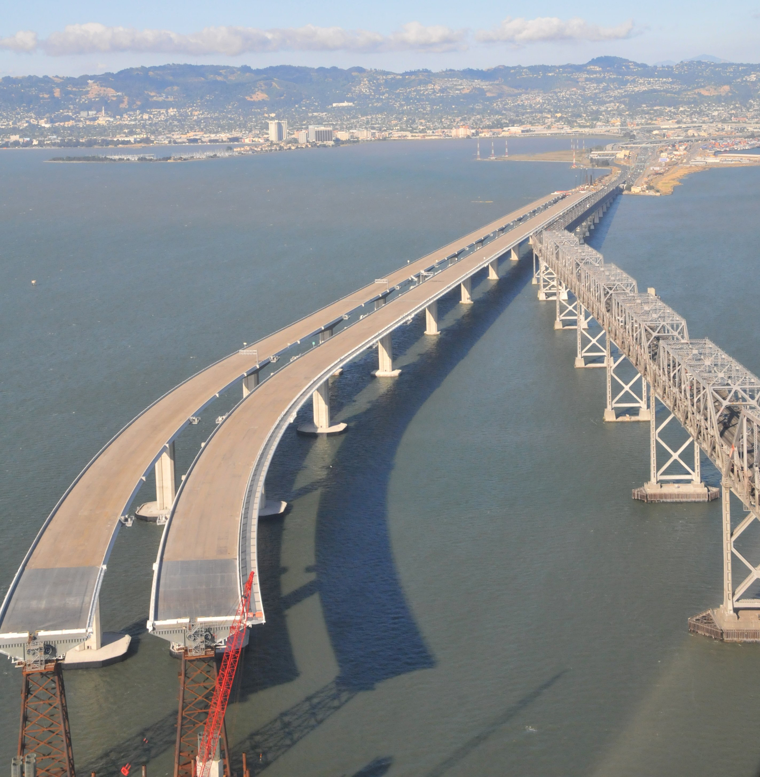 Arch and city bridge