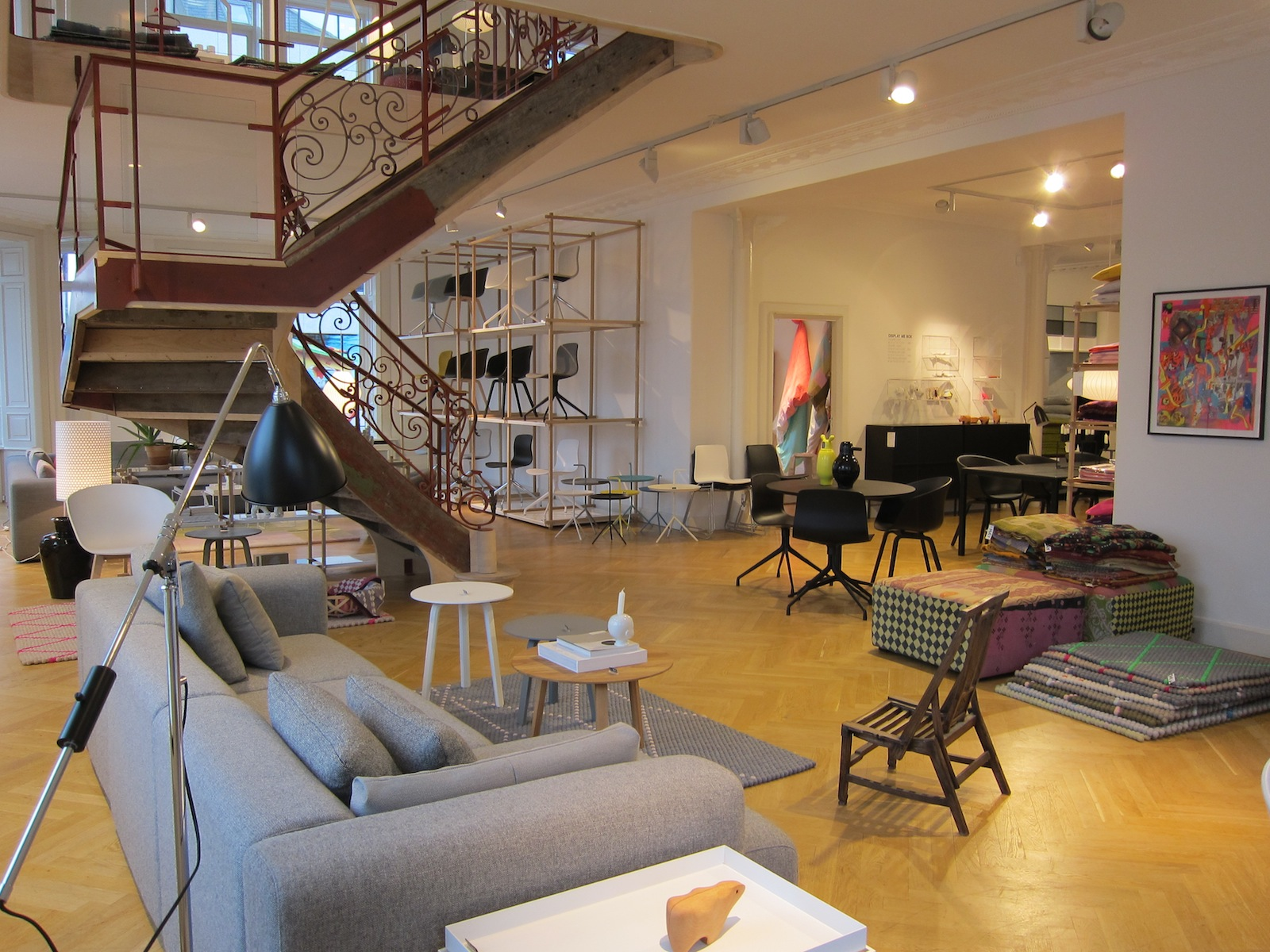 Here's a view of the main floor of the store, a spacious and airy atelier filled with all manner of wonderful things.