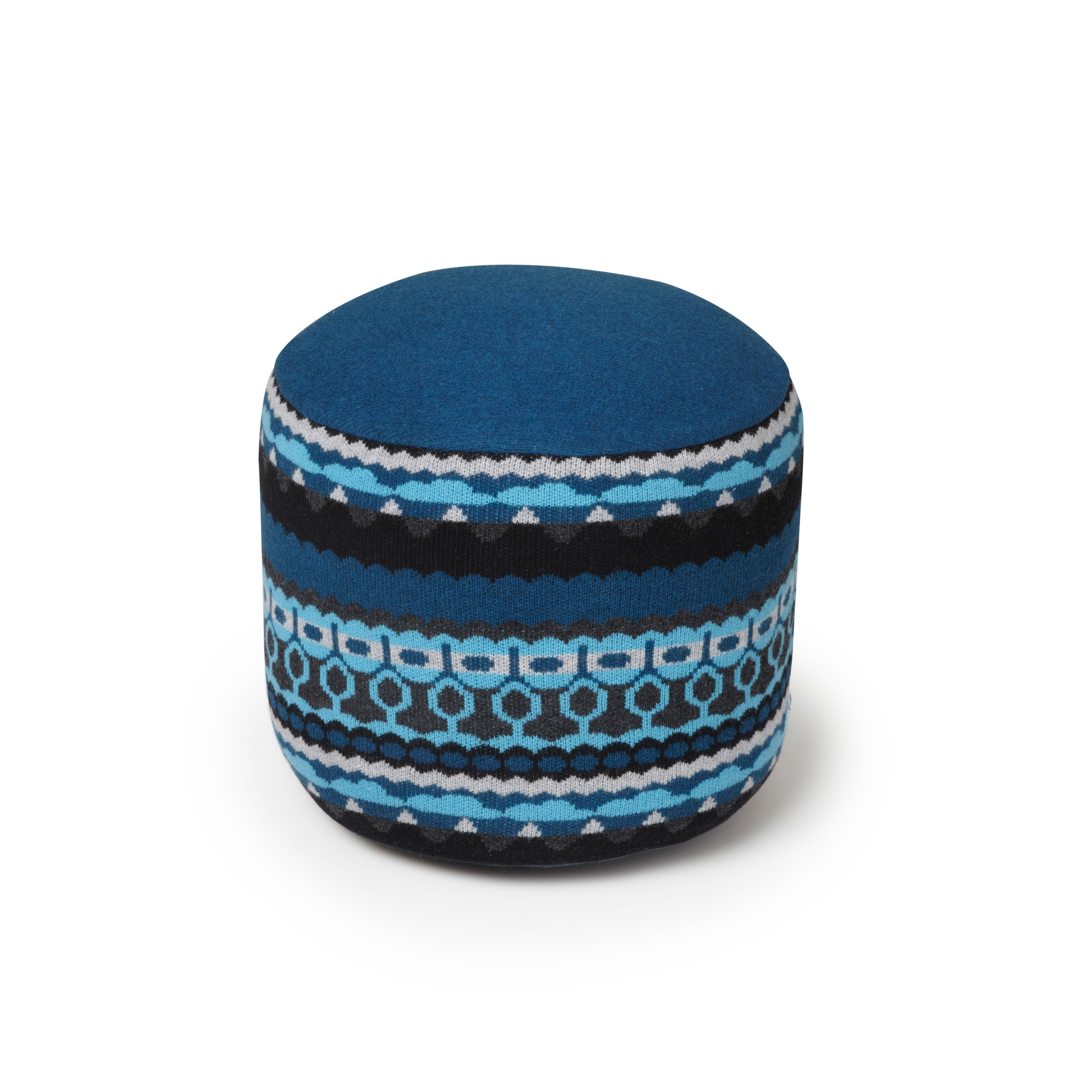 """<h3>Henry Pouffe in Treecloud Blue, SCP, $336</h3> Alissa Parker-Walker: """"As temperatures start dropping in the North East, I've really been into cozy textiles. This pouffe from Donna Wilson for SCP fits the bill. The Treecloud is knitted in Scotland from"""