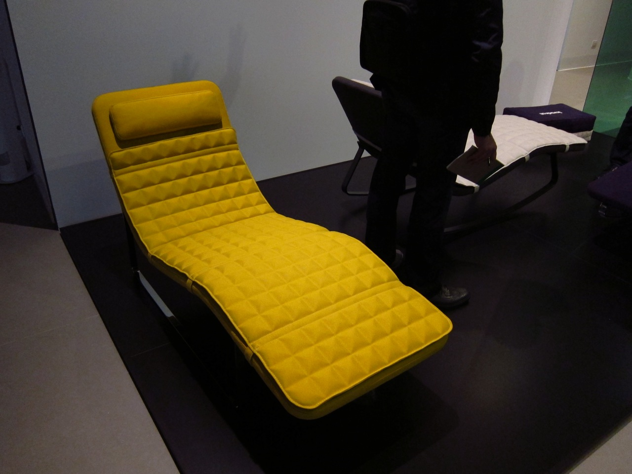 For the 10th anniversary of his Landscape chaise longue, designer Jeffrey Bernett revisited his creation for B&B Italia by adding a rocking version, and adding a retro-fittable custom foam cover produced in conjunction with Kvadrat.