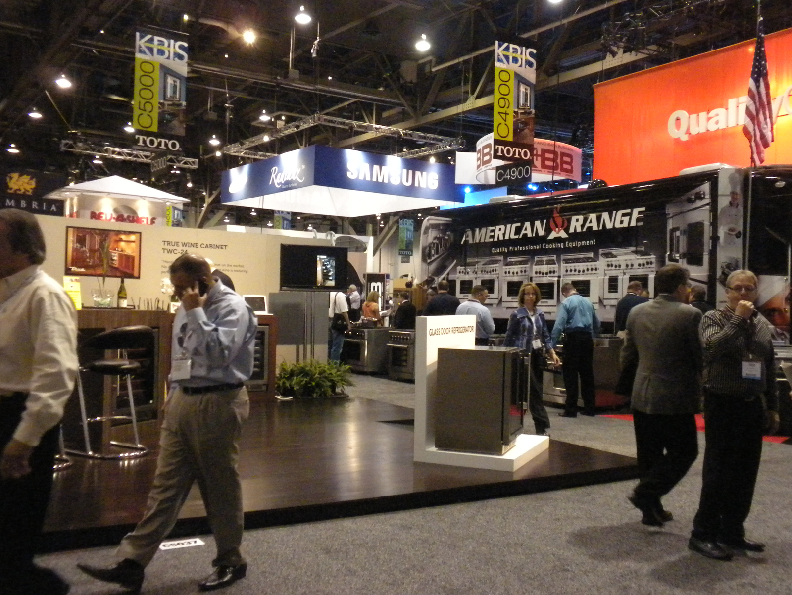 "The show floor was bustling with exhibitors and attendees. While many trucked in elaborate booths and display, <a href=""http://www.americanrange.com/"">American Range</a> drove its traveling showroom bus right onto the floor and invited people aboard to vi"