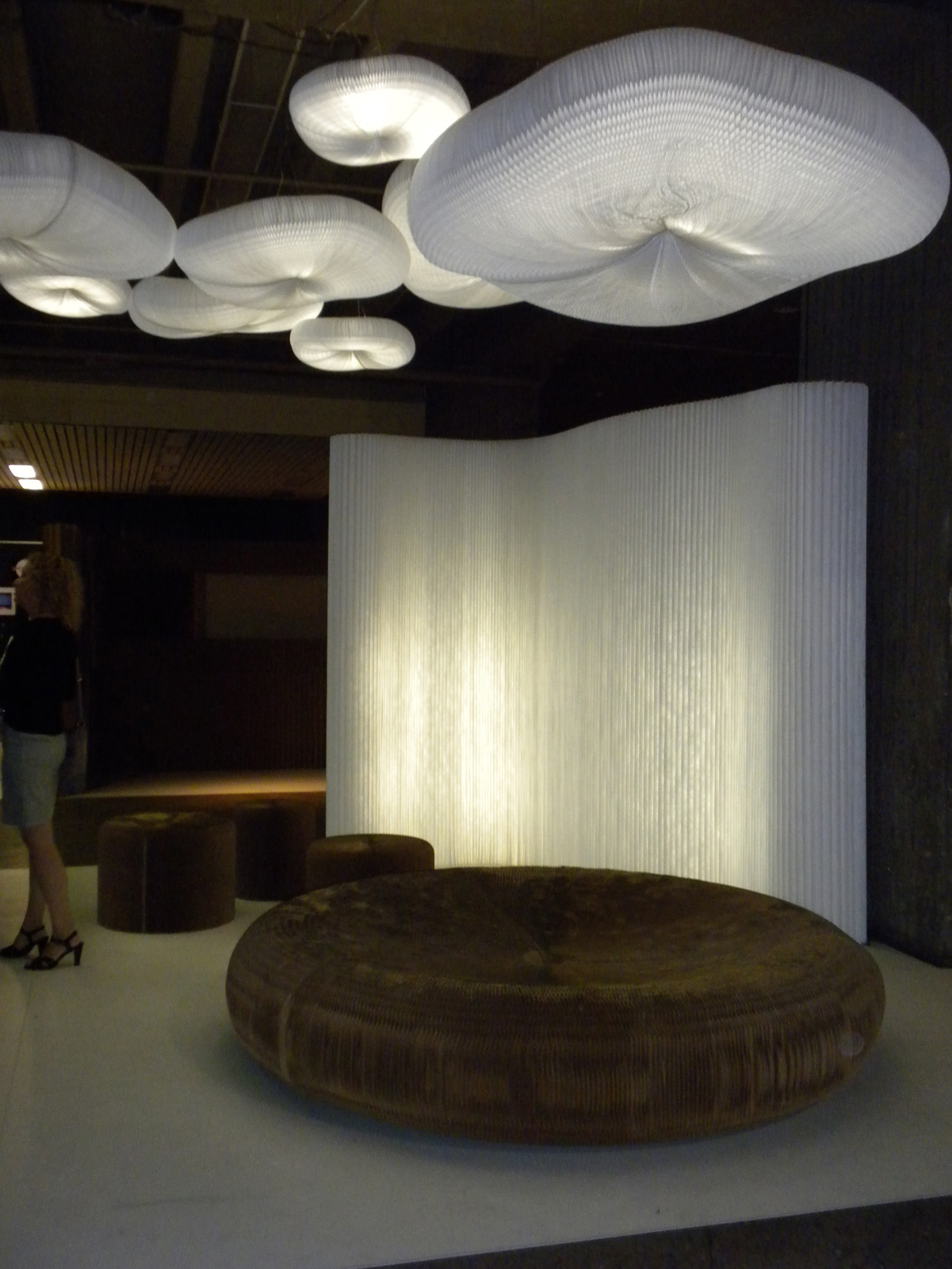 At the Montreal International Interior Design Show, the Molo booth provided a heavenly respite for weary attendees.