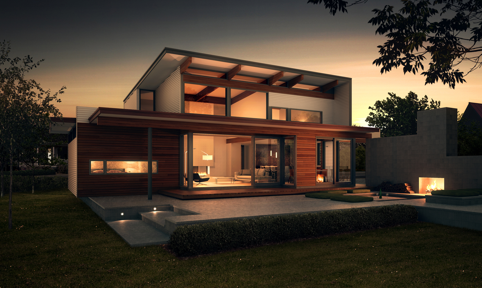 The TD3 1710 by Joel Turkel Design, available through Lindal Cedar Homes.