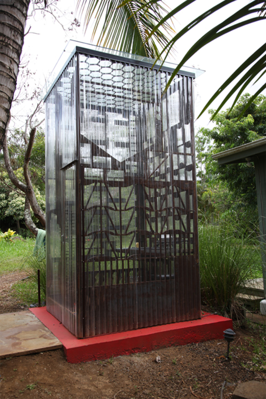 The Zen Complex features the Zen Guest House (a 96-square-foot sleeping quarter), the Zen Bathroom (a 48-square-foot, freestanding bathroom equipped with a toilet, sink, and shower), and the latest addition: the six-foot-wide, six-foot-deep, 12-foot-tall