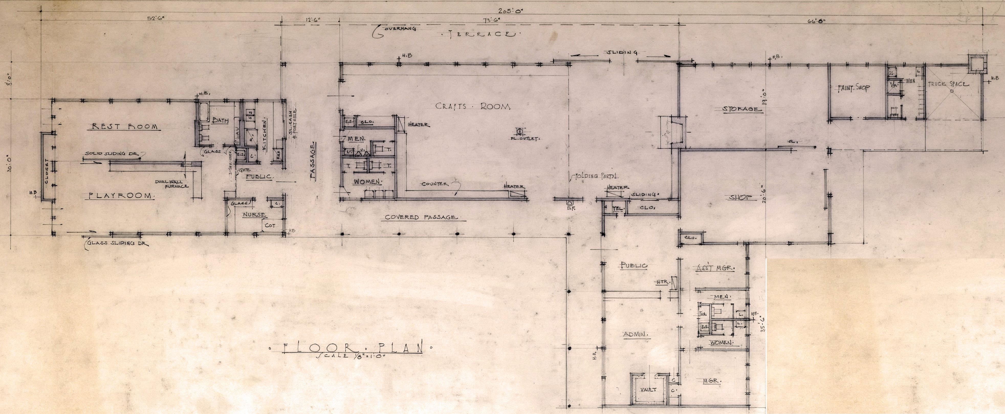 administration floor plan