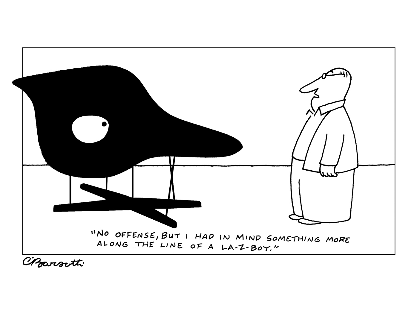 charles barsotti chair cartoon