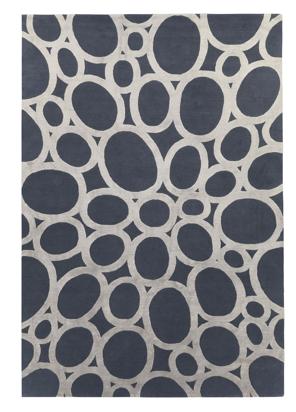 """<a href=""http://www.therugcompany.info/designer-collection/david-rockwell/silver-rings.htm"">Silver Rings</a>"" by David Rockwell for The Rug Company."
