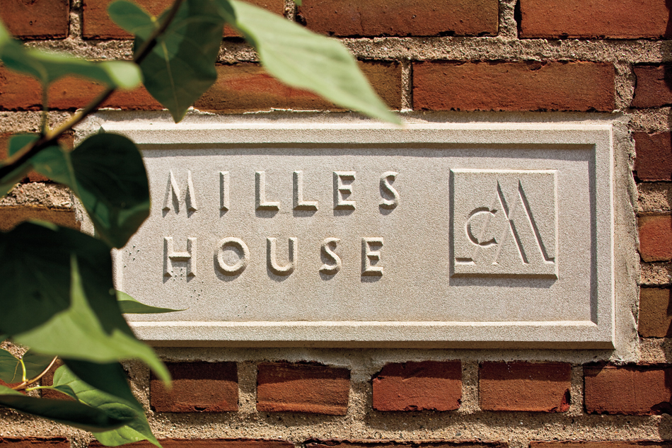 The house, the onetime residence of Swedish sculptor Carl Milles, was constructed in the early 1920s by Eliel Saarinen. It now doubles as a private residence for Kroloff, and as a gathering space for students and faculty.