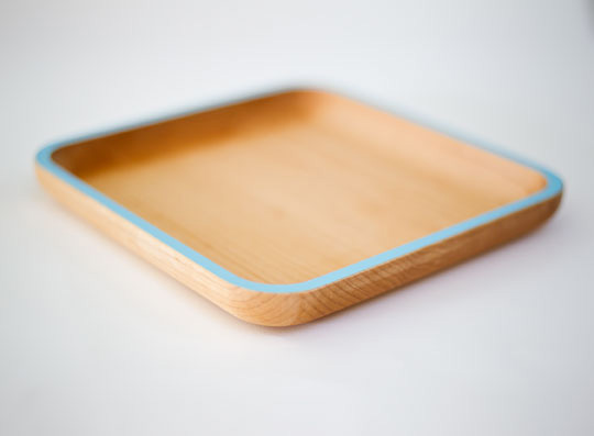Maple cafe plate by David Rasmussen Design.