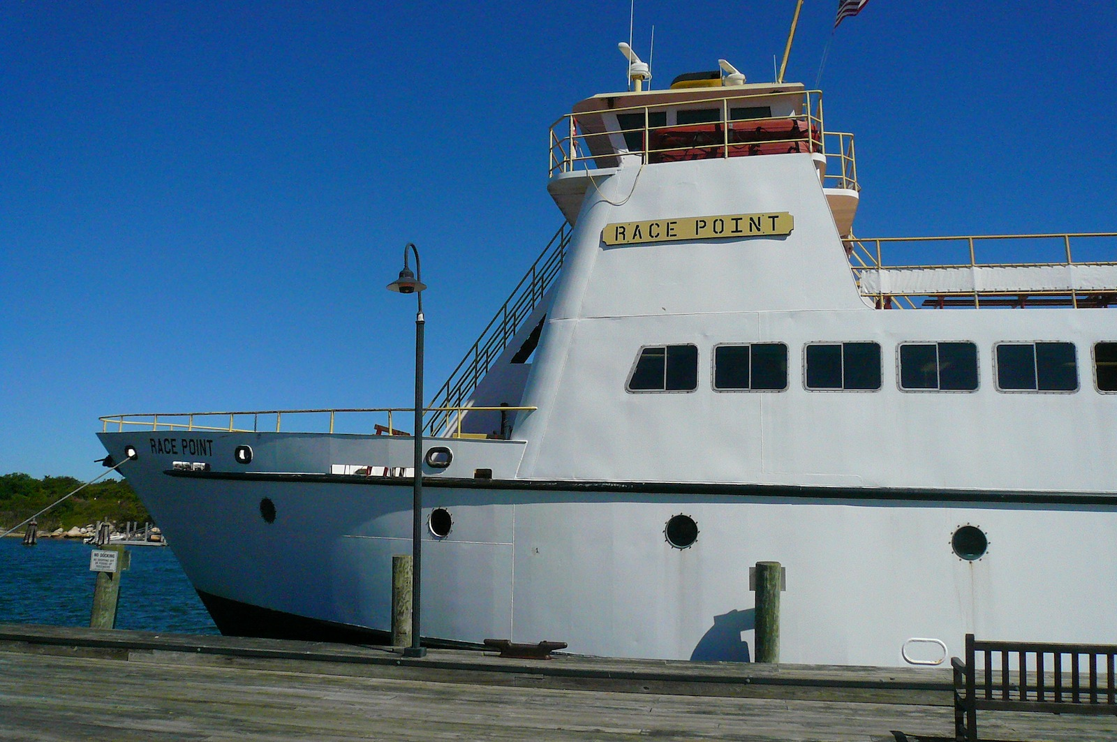 Here's the ferry that took us from New London, Connecticut, to Fishers Island, a 45-minute ride.