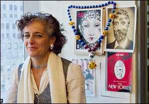 Francoise Mouly in her office at The New Yorker. Photo © 2010 Sarah Shatz