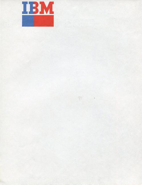 ibm letterheady