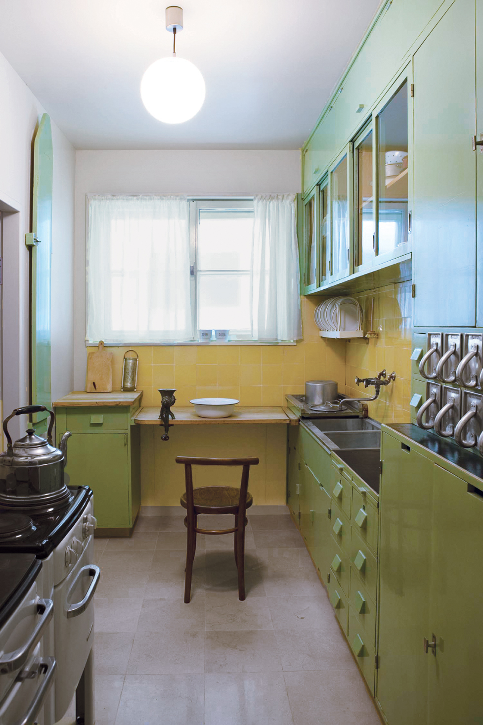 The Frankfurt kitchen, designed by Austrian architect Margarete Schütte-Lihotzky, was one of the first kitchens designed as a complete and efficient system.