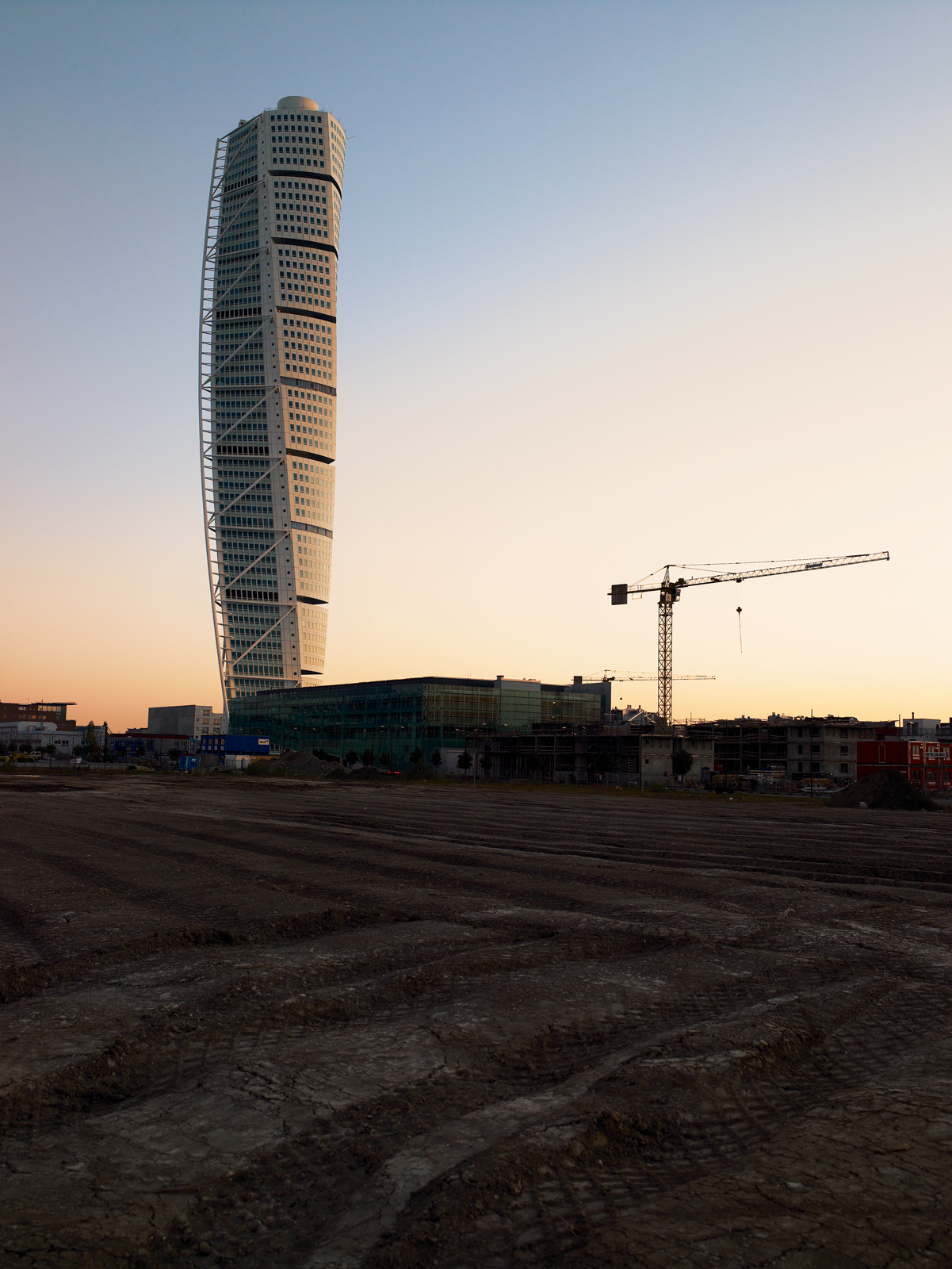 The proverbial ivory tower of urban regeneration, Santiago Calatrava's Turning Torso stands proud amid the rubble of redevelopment.