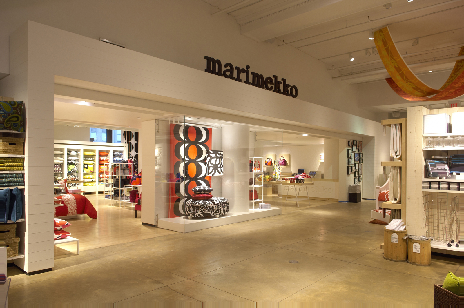"The 1,800-square-foot <a href=""http://www.crateandbarrel.com/the-marimekko-shop/"">Marimekko shop</a> is located inside Crate and Barrel's New York SoHo store and opened October 13th. Photo ©2010 Wellington Lee"