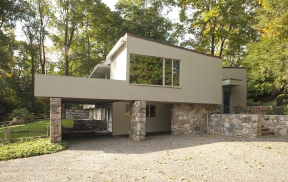 The Breuer-RobeckHouse, a privately owned historic property in New Canaan, was designed by noted modern architect and furniture designer Marcel Breuer.