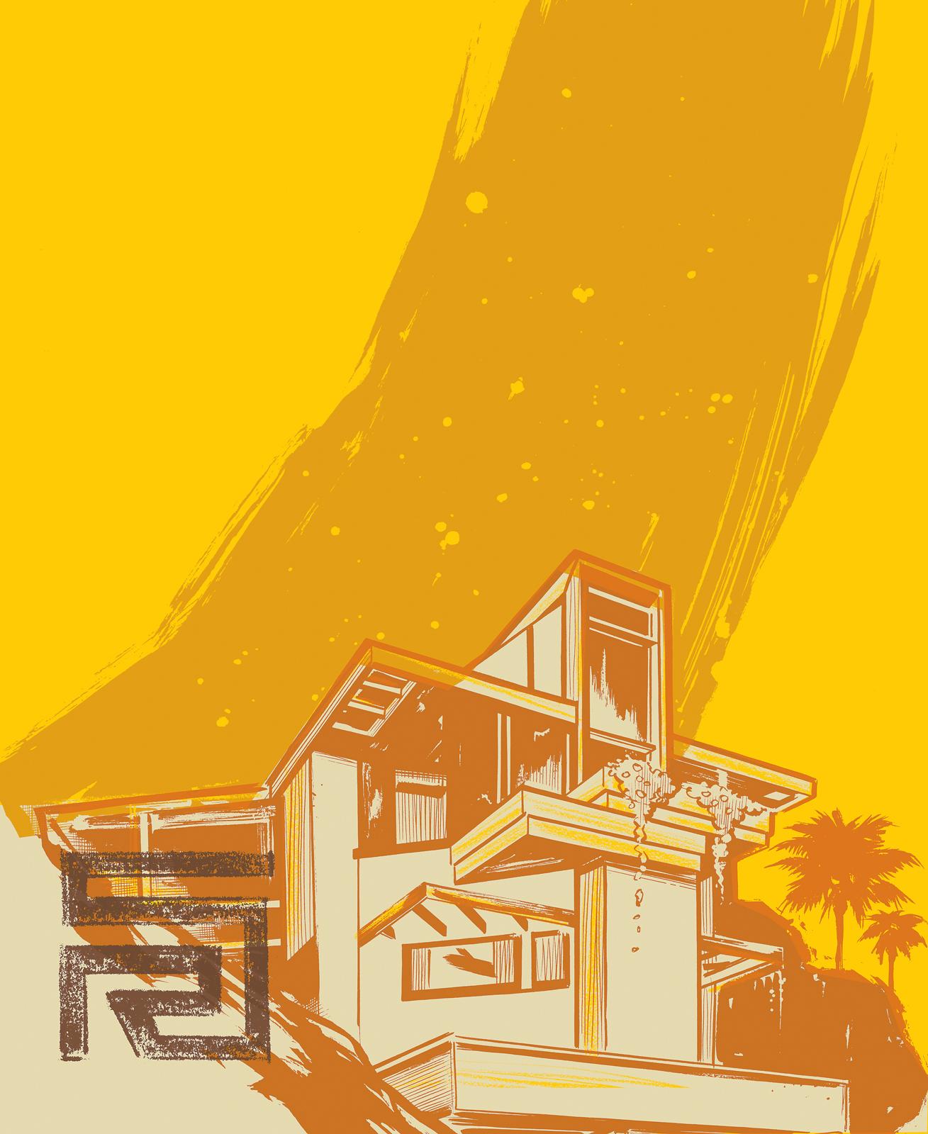 neutra essay illustration house