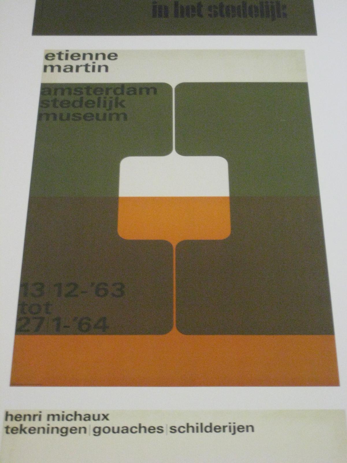 "Wim Crouwel (b. 1928, Groningen). Poster for ""Etienne Martin,"" 1963."
