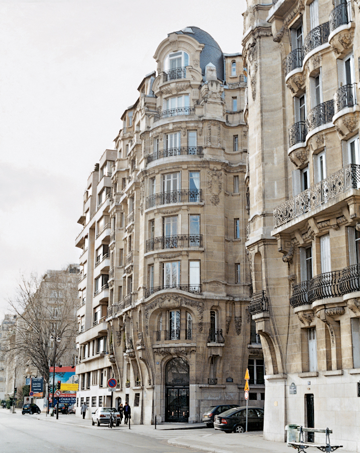 Bordering the Seine, the turn-of-the-century exterior of Krzentowski's building belies little of what lies within.
