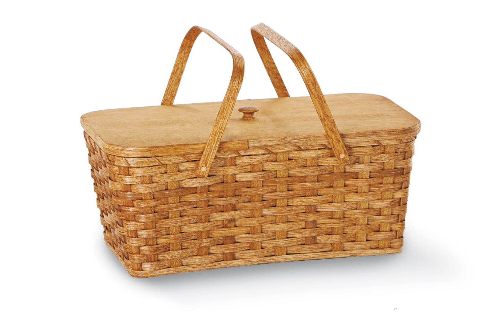 The Liberty Americana Picnic Basket by Picnic Plus, made in Amish country in Ohio.