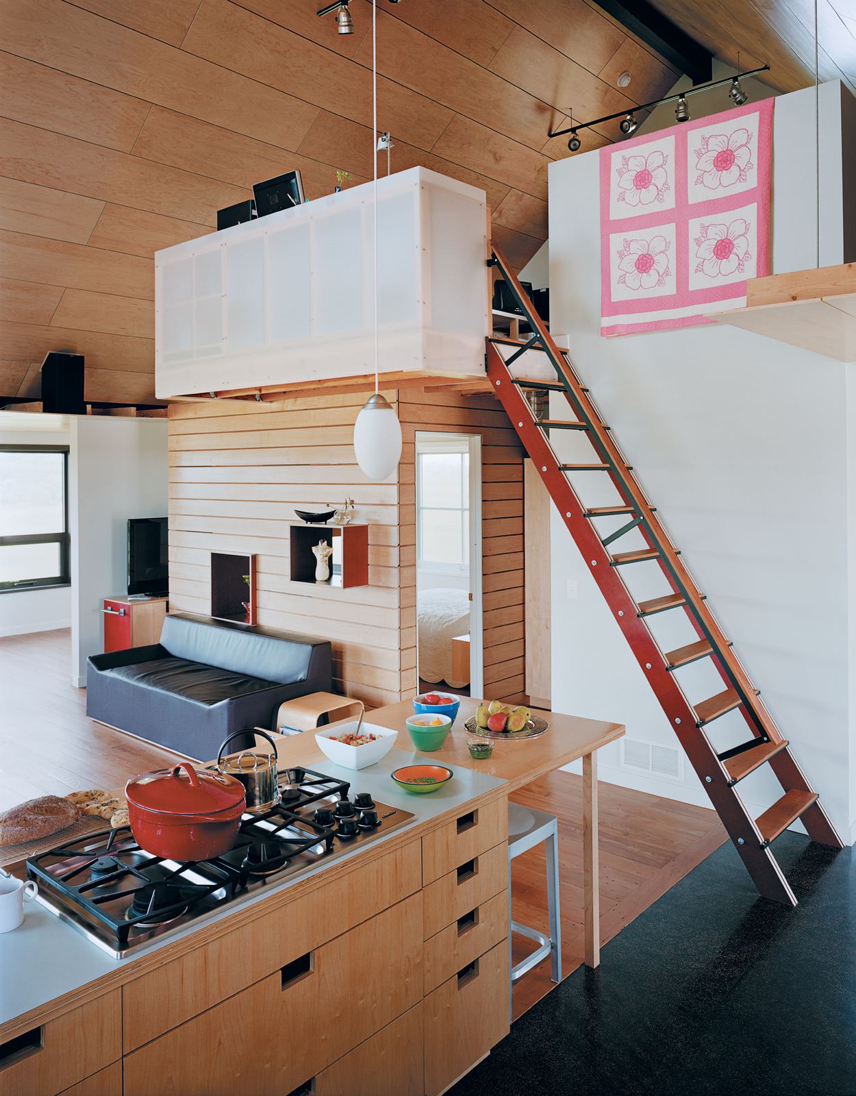 yum yum farm house kitchen storage space ladder
