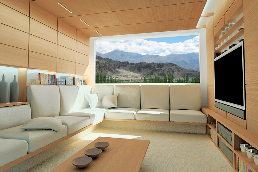 zero house living room