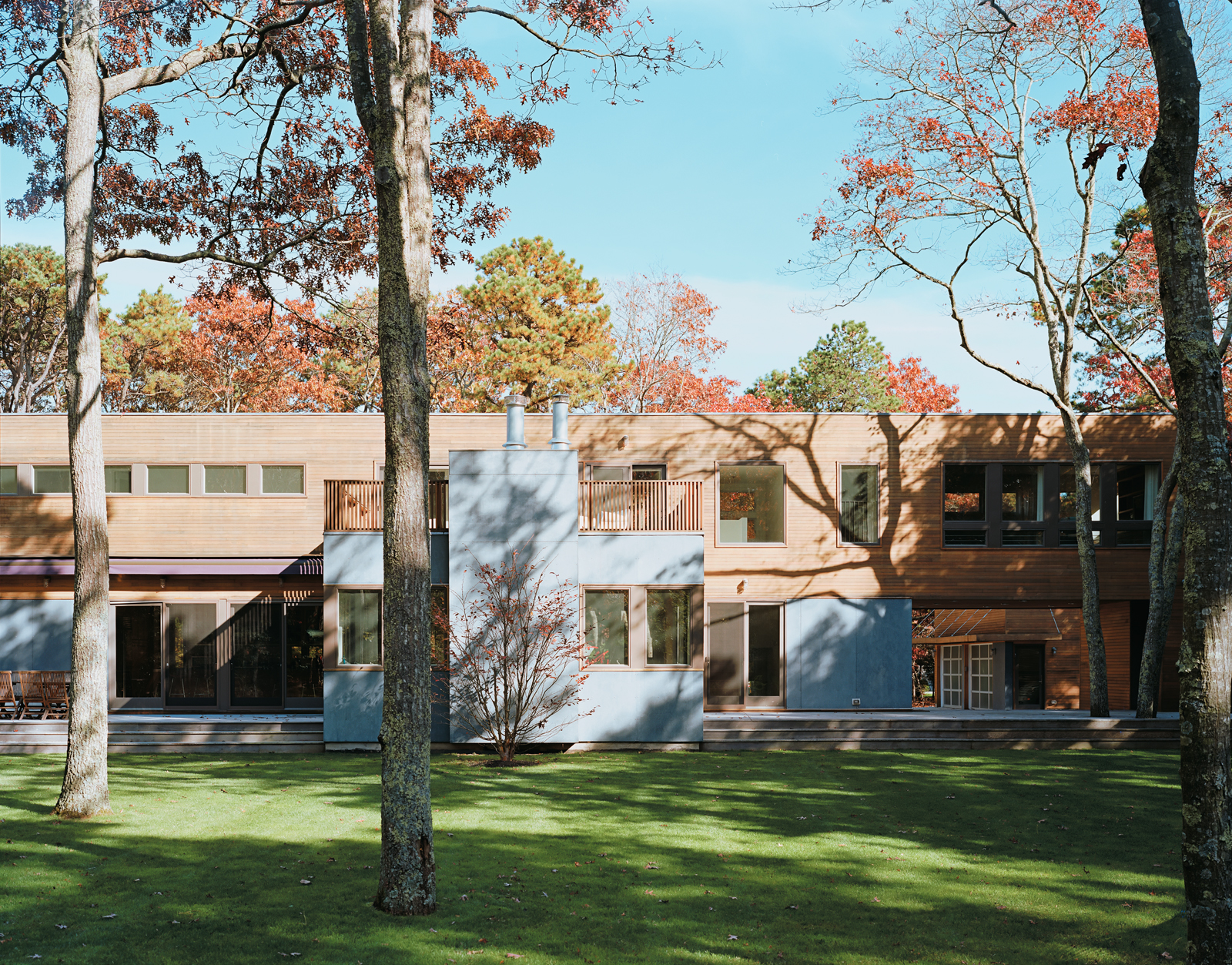 Architect Joseph Tanney says the house was designed as a safe haven for Wexler and Zimmerman's children.