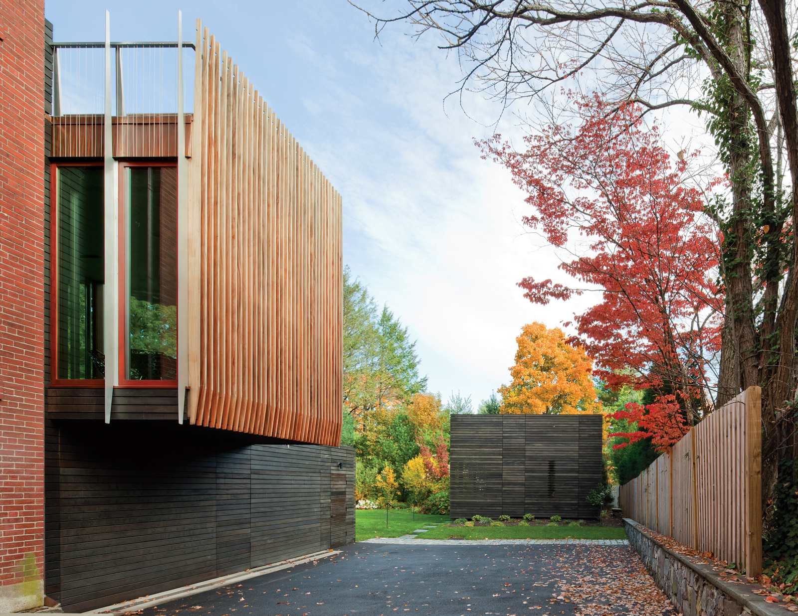 A modern addition in Newton, Massachusetts