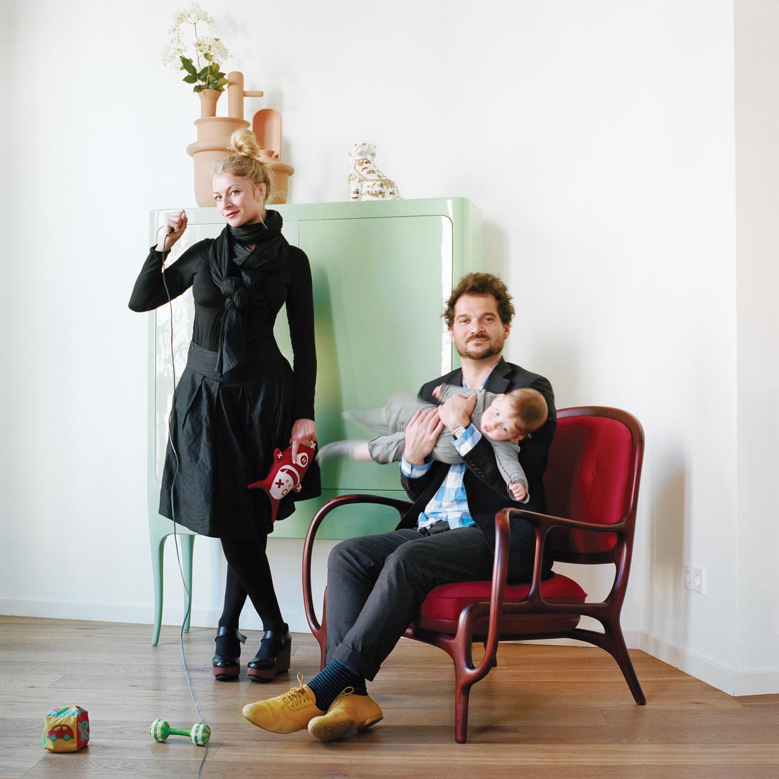 Nienke Klunder and Jaime Hayon at home