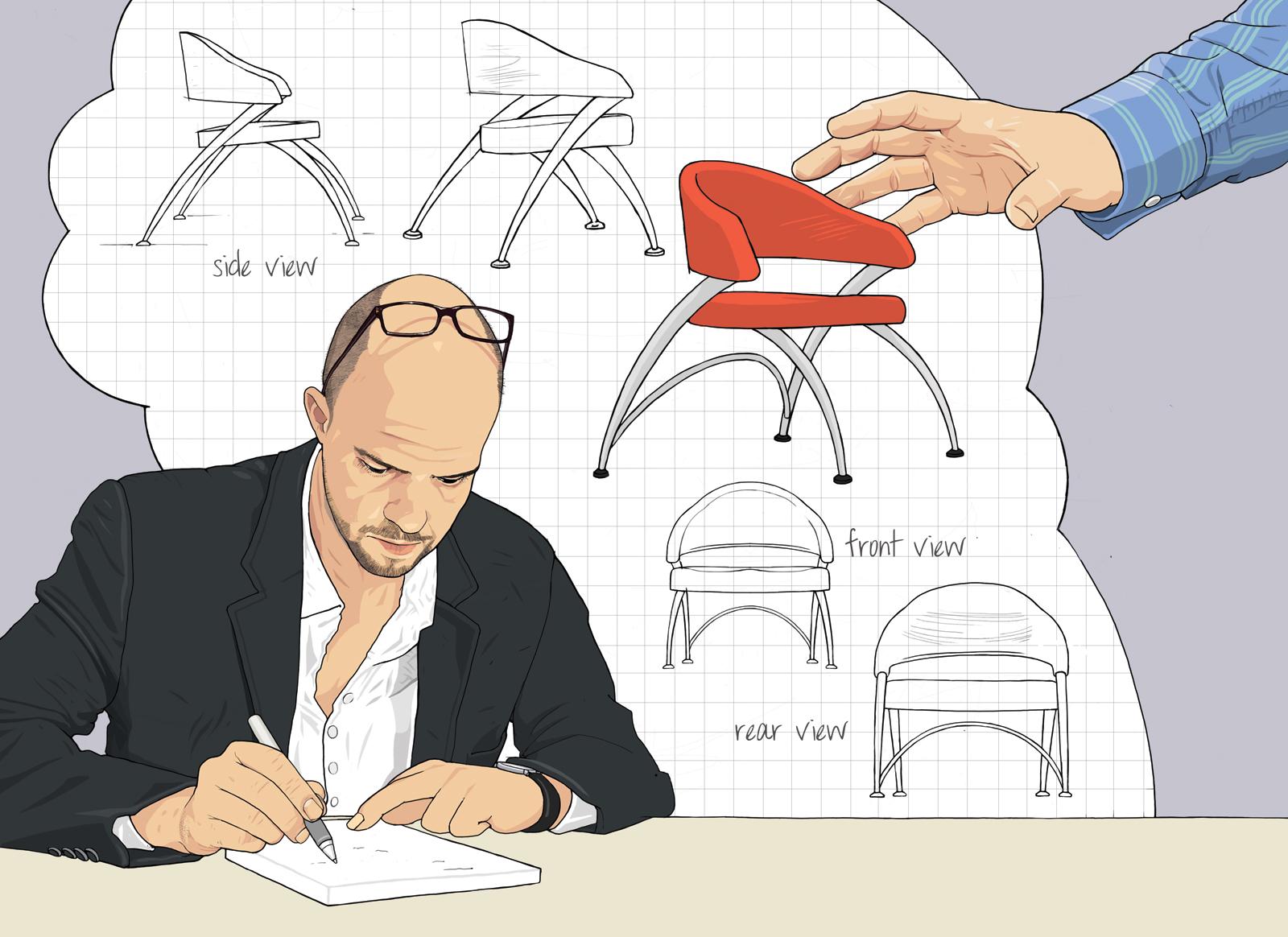 Knock-off furniture designs argument