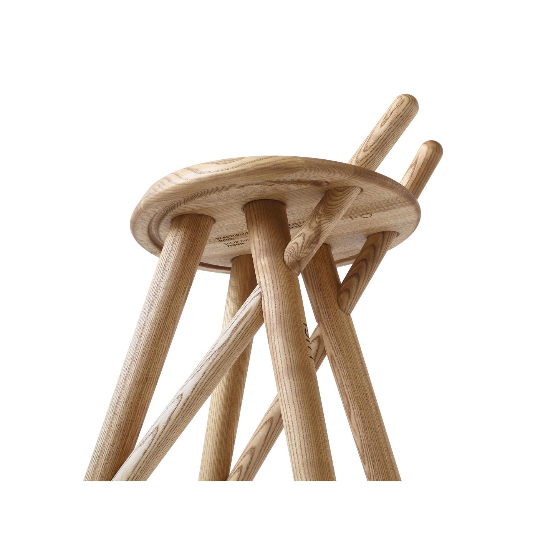 modernized multi-functional wooden barstool