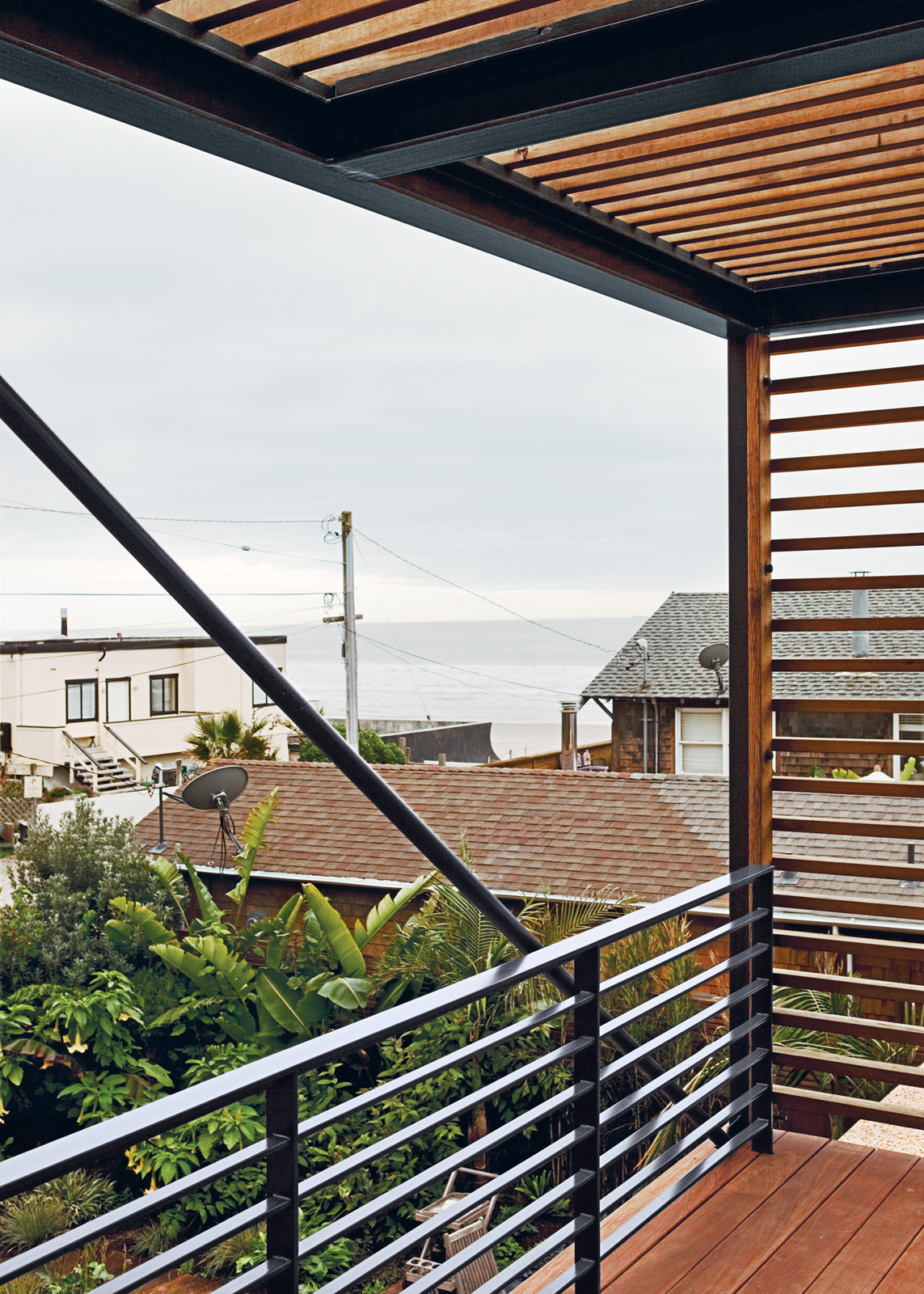 With almost as much area dedicated to decks as to interiors, Peter Dwares's house is truly made for outdoor enjoyment.