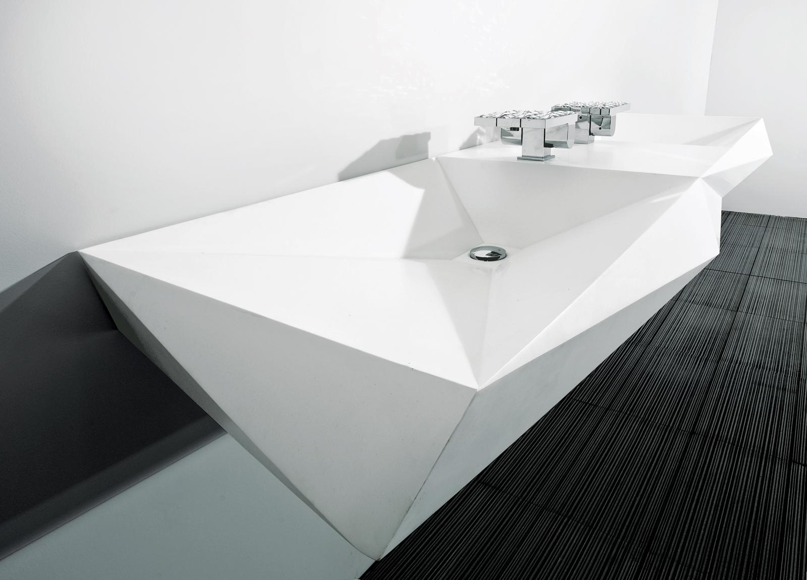 Crystalline Bath Collection by Mojgan and Gisue Hariri