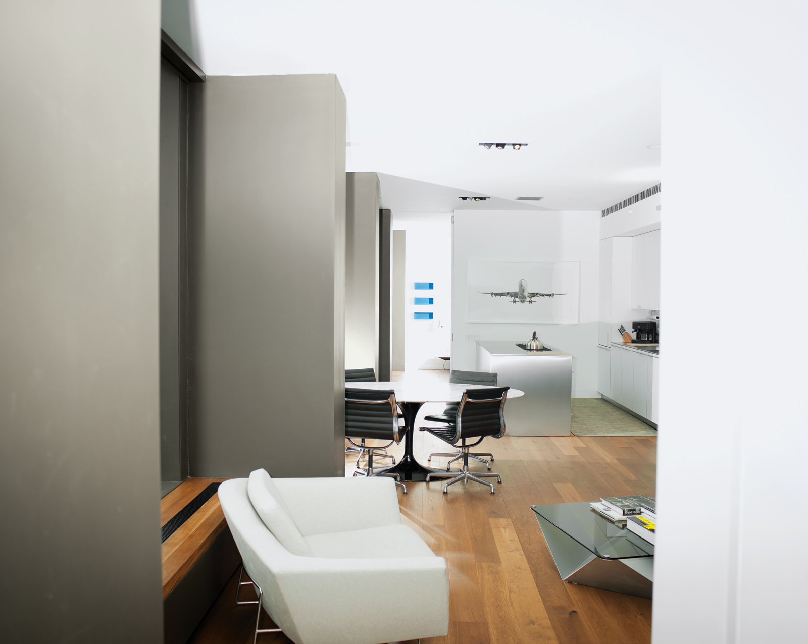 Modern Bulthaup kitchen area with window wall