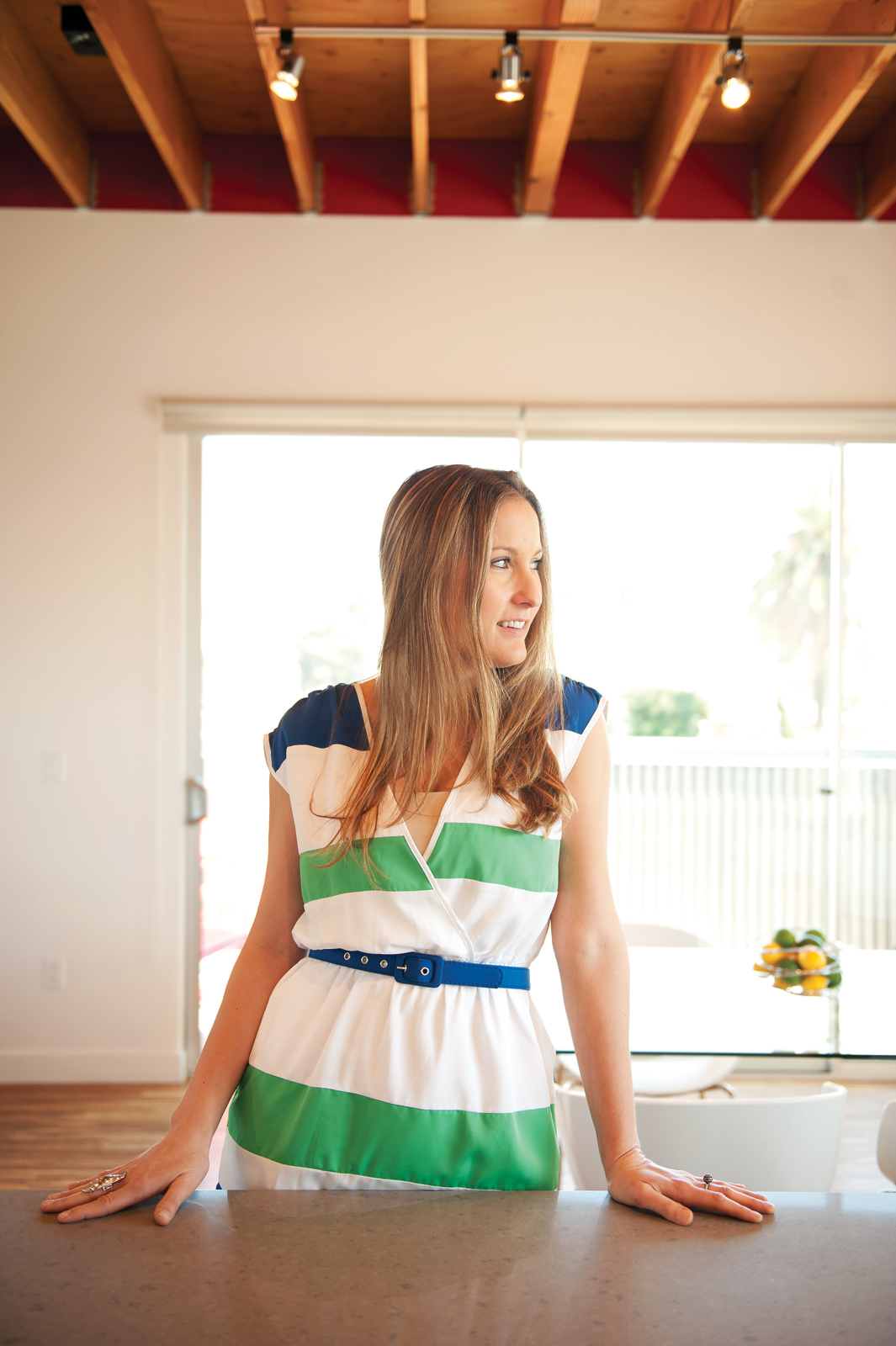 Architect Jayna Cooper in her Los Angeles home