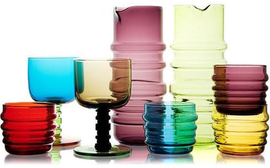 Socks Rolled Down tableware series by Marimekko
