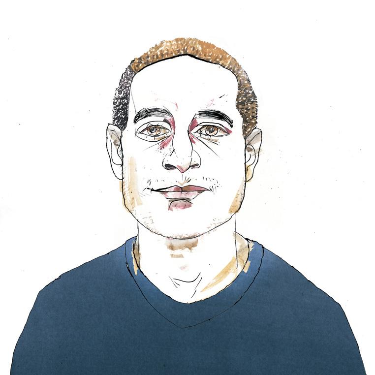 Peter Marigold illustration by Riccardo Vecchio