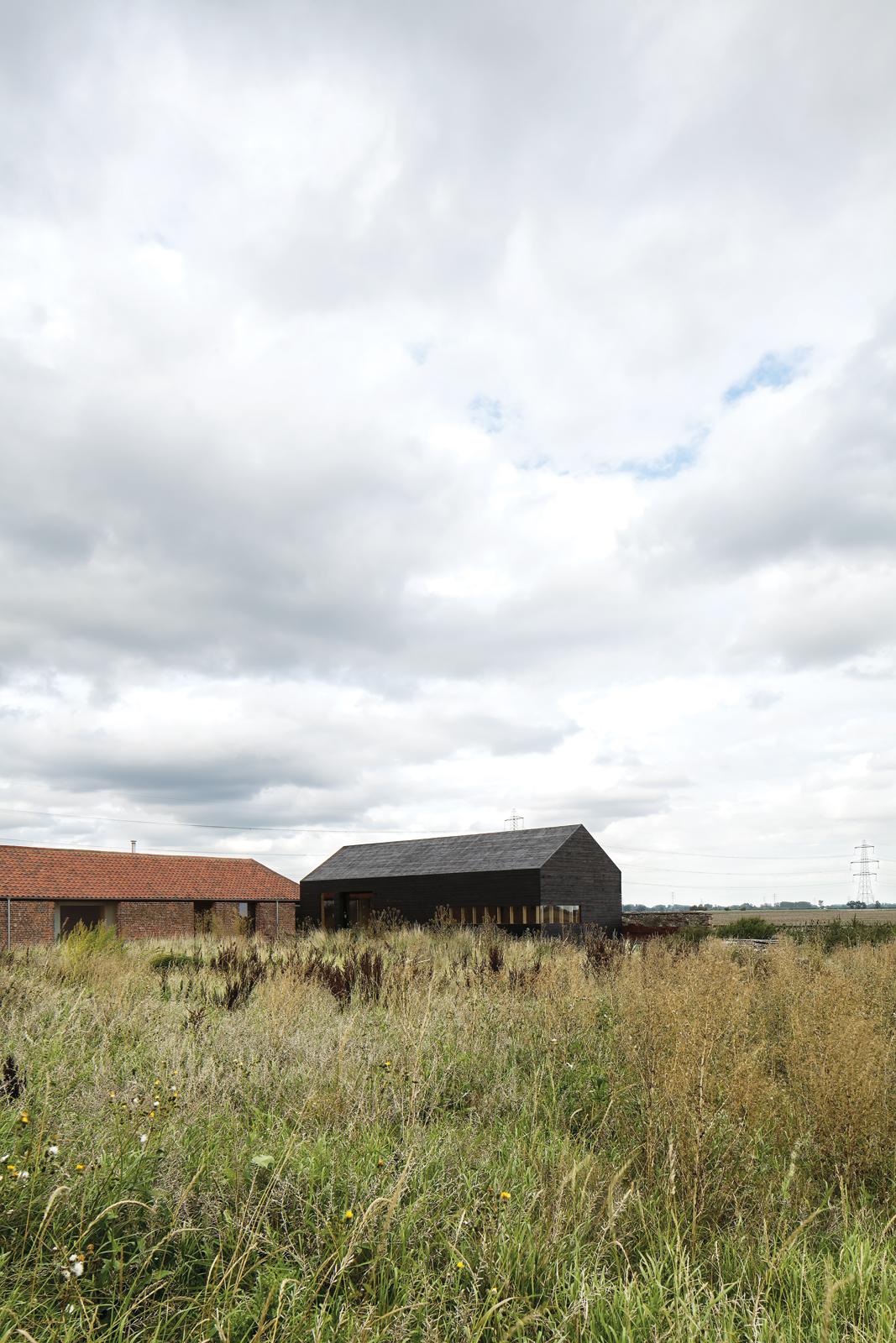 Modern barn house facade renovation in Norfolk, England