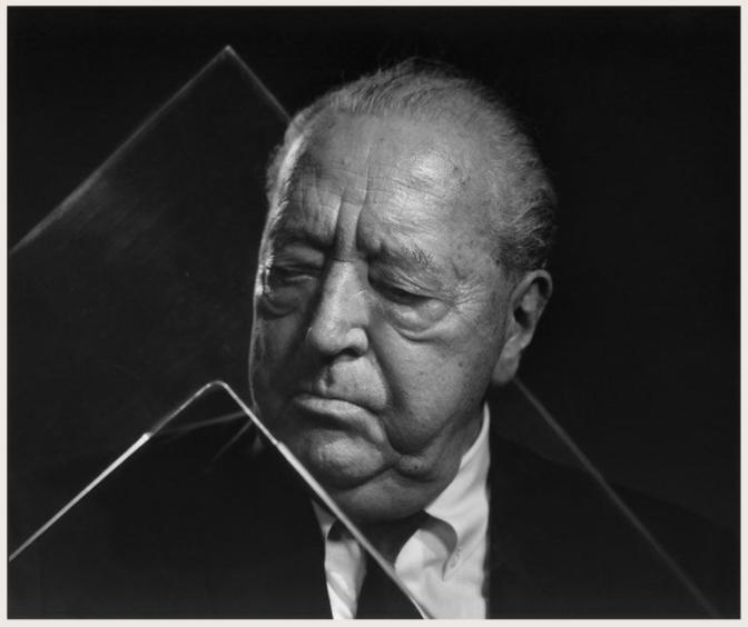 Mies van der Rohe portrait by Yousuf Karsh