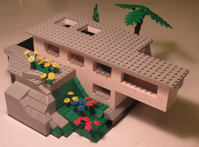 Cliffside Cantilever Lego House by Daniel Castner