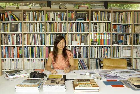 Interior designer Kathryn Tyler in her office