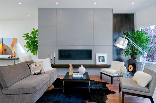 Caesarstone Firewall designed by hazel.wood design group and Carolyn Woods Design