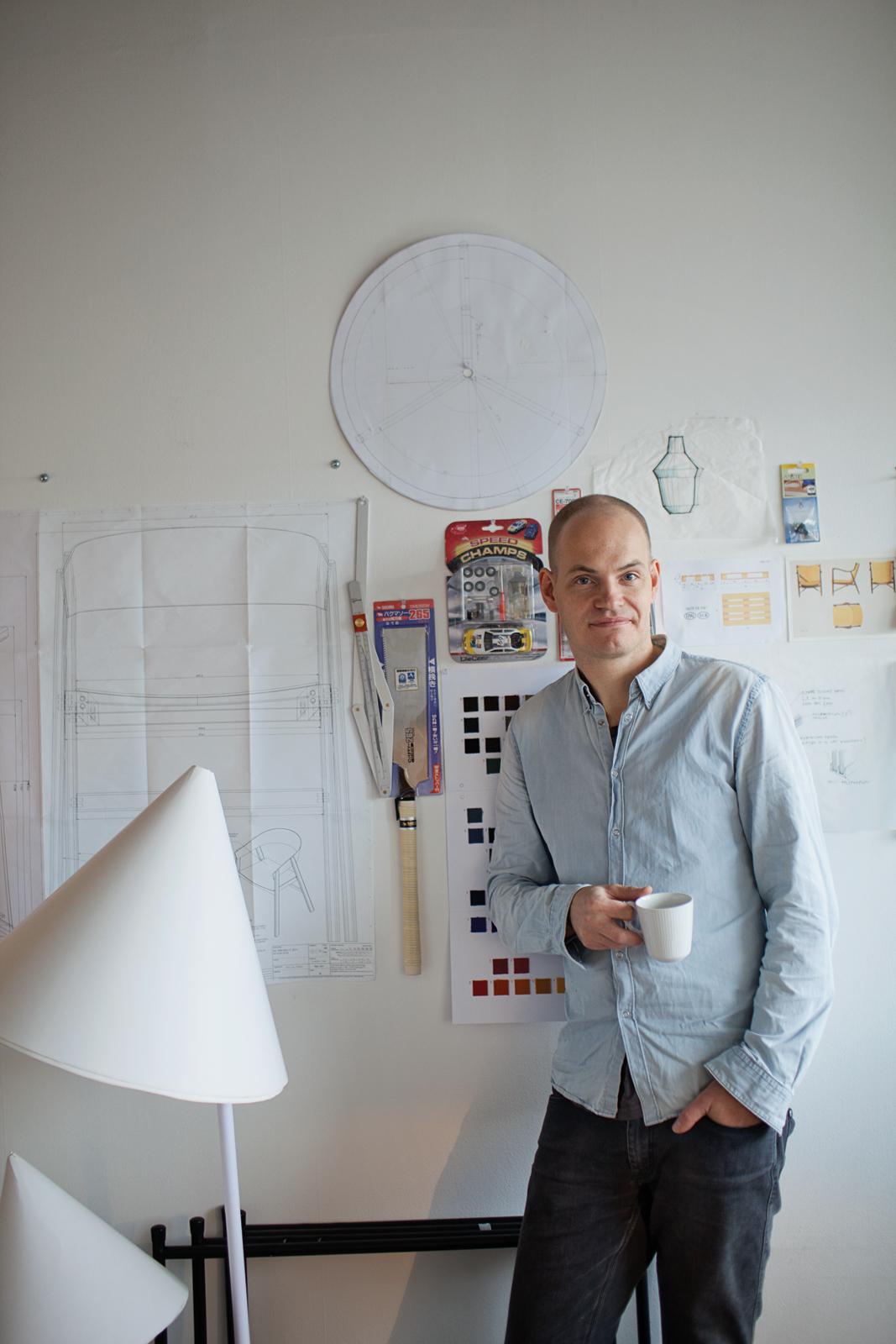 Designer Thomas Bentzen at his Copenhagen studio