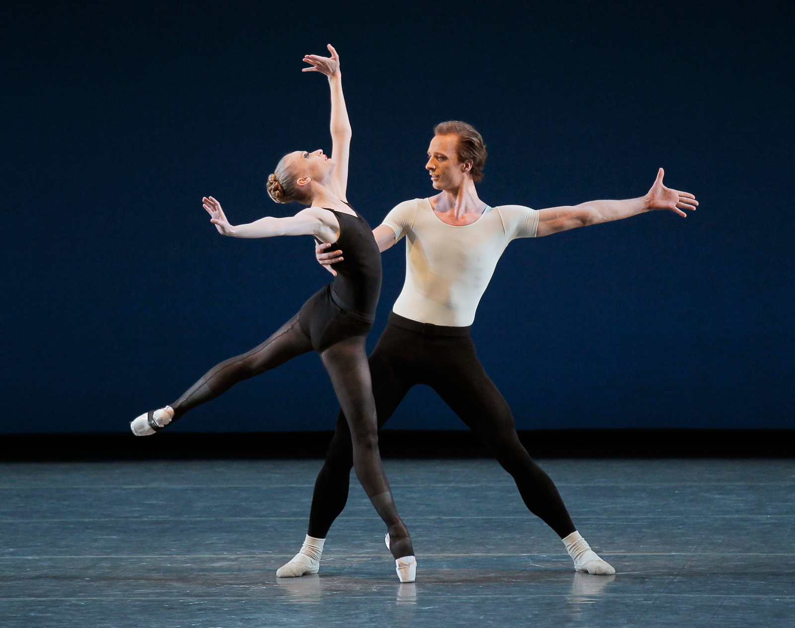 Janie Taylor and Ask la Cour in George Balanchine's Stravinsky Violin Concerto