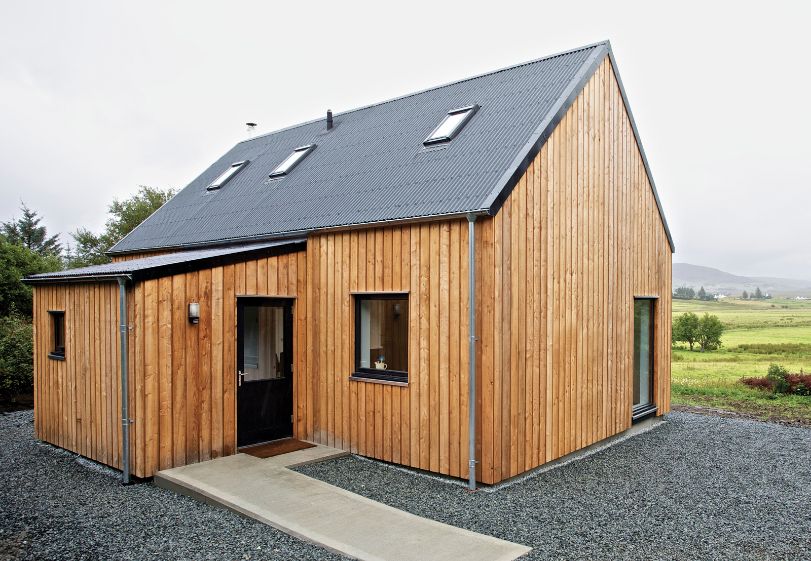 Modern wooden prefab home in Scotland