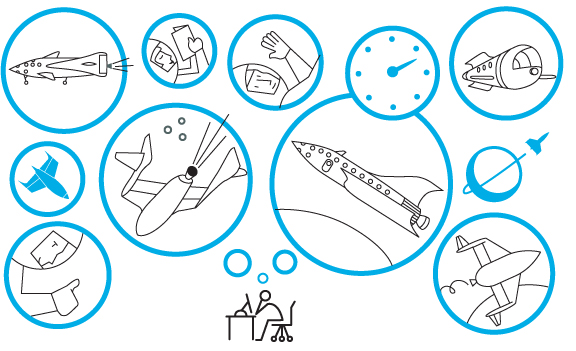 101 Travel Space Odyssey illustration