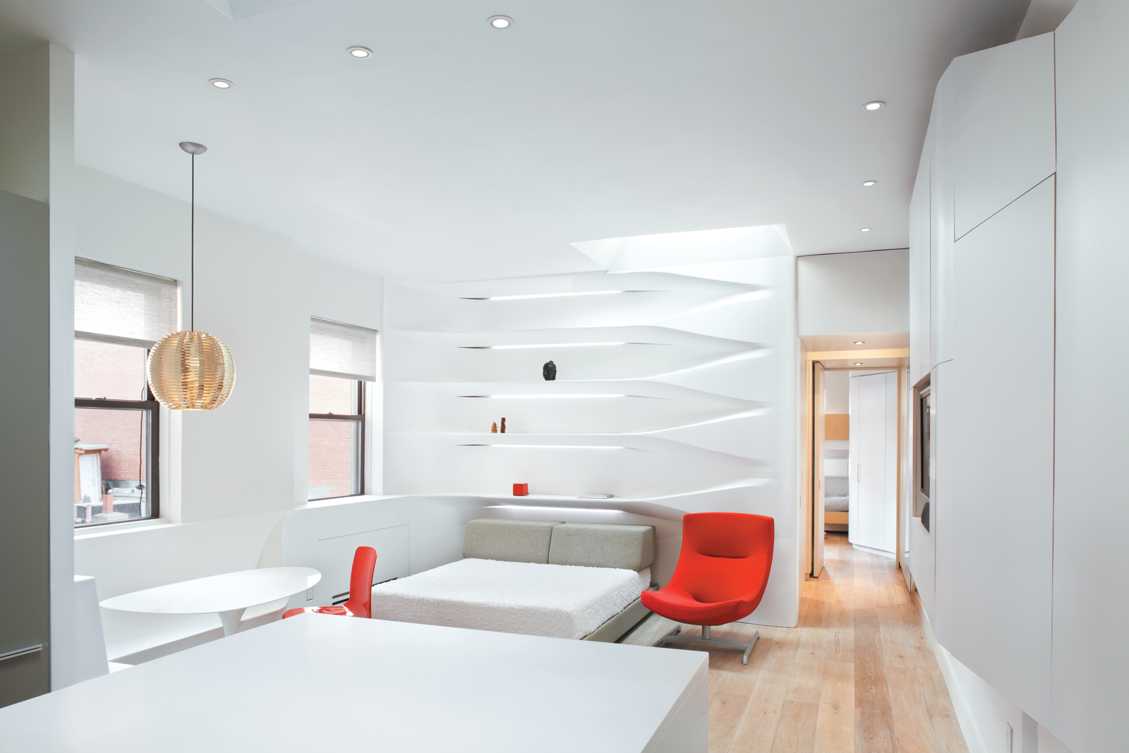 Multipurpose room with minimalist colors