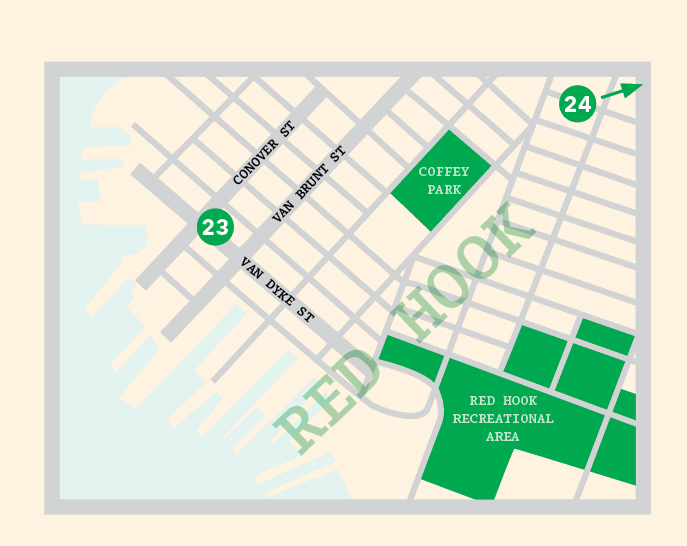 Red Hook New York map illustration